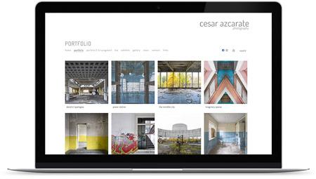 web creada con el diseño César Azcarate de Bluekea