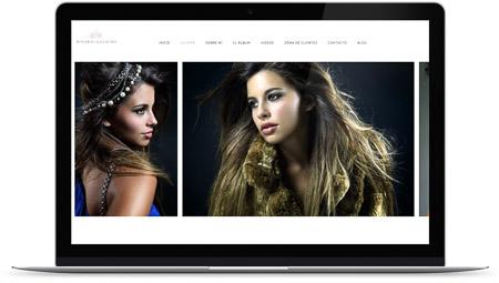 web creada con el diseño Rosario Galacho de Bluekea