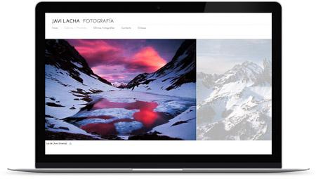 web creada con el diseño Javi Lacha de Bluekea
