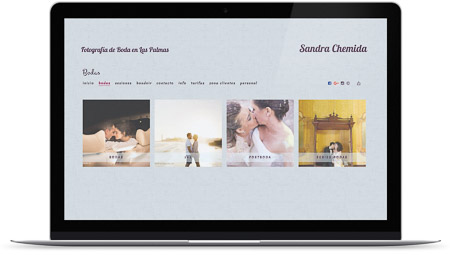 web creada por Sandra Chemida en Bluekea