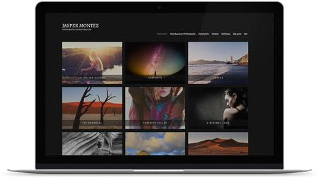 web creada con el diseño Antares de Bluekea