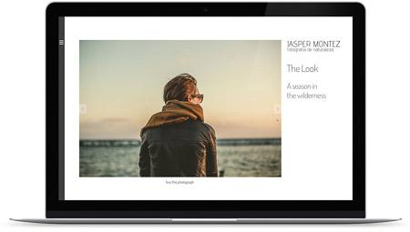 web creada con el diseño Bellatrix de Bluekea