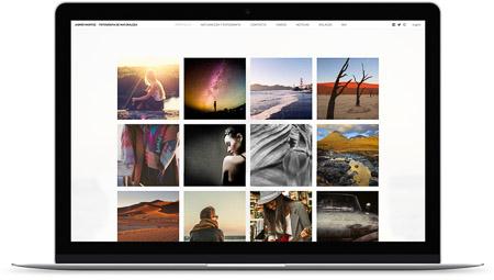web creada con el diseño Duhr de Bluekea