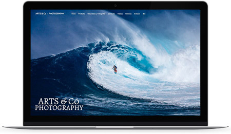 web creada con el diseño Miland de Bluekea