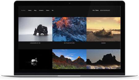 web creada con el diseño Mugi de Bluekea