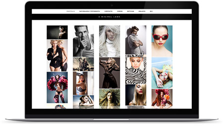 web creada con el diseño Nekkar de Bluekea