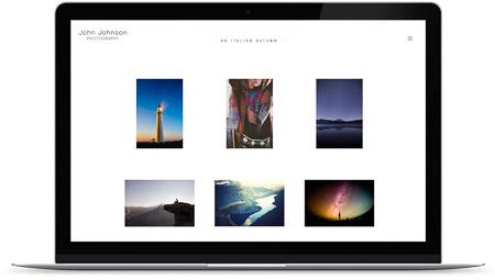 web creada con el diseño Roldal de Bluekea