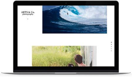 web creada con el diseño Sande de Bluekea