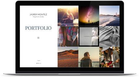 web creada con el diseño Vik de Bluekea