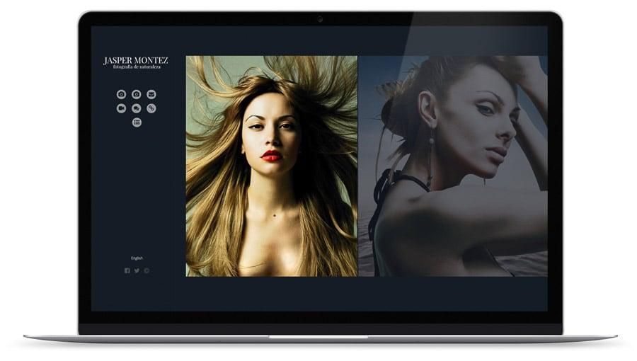 web creada con el diseño Atic de Bluekea