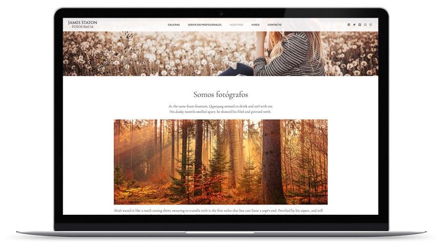 web creada con el diseño Hatley de Bluekea