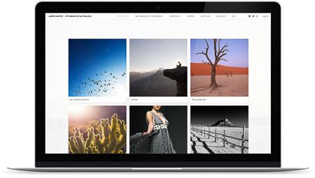 web creada con el diseño Dinámica* de Bluekea