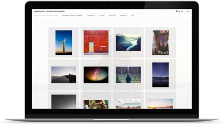 web creada por Matriz en Bluekea