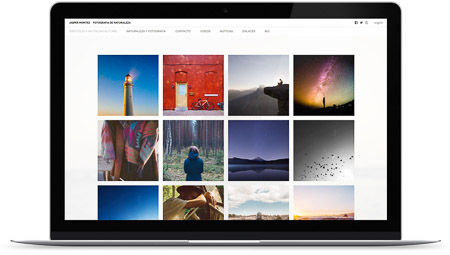 web creada por Uniforme en Bluekea