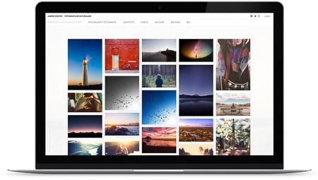 web creada con el diseño Wall de Bluekea