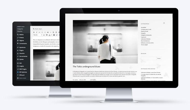 integración de un blog de Wordpress en webs de fotografía